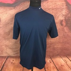 Nike Gold Fit Dry Blue Athletic Shirt M